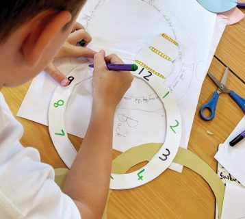 Schools-Clock-making-with-Artist-Brenda-Coyle-2019-image-two-